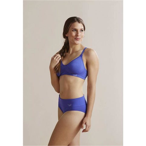 Nursing Bra - Cantaloop Butterfly Blue Drop Cup Nursing Bra - Blue Iris