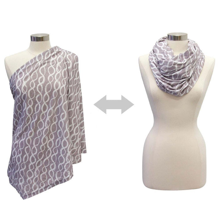 Nursing Cover - Itzy Ritzy Nursing Happens™ Infinity Breastfeeding Scarf - Platinum Helix