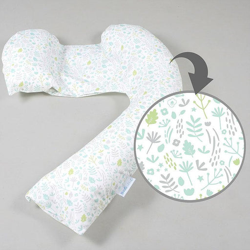Nursing Pillow - Dreamgenii Pregnancy Support & Feeding Pillow - Natural Grey Green