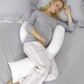 Nursing Pillow - Dreamgenii Pregnancy Support & Feeding Pillow - White