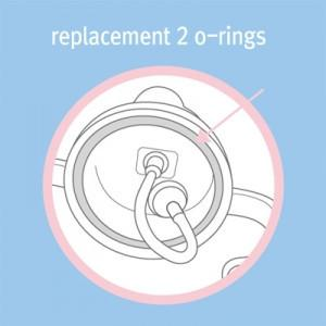 O Rings - B.Box Sippy Cup Replacement O-Rings (Gloss Lids)