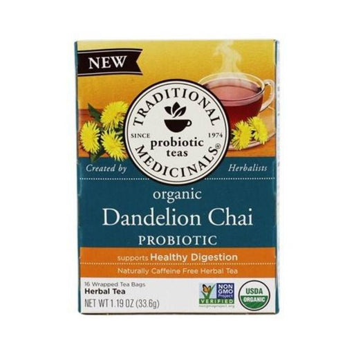 Organic Herbal Tea - Traditional Medicinals Dandelion Chai, 16 Bags