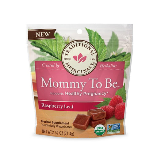 Organic Herbal Tea - Traditional Medicinals Mommy To Be Raspberry Leaf 14 Chews