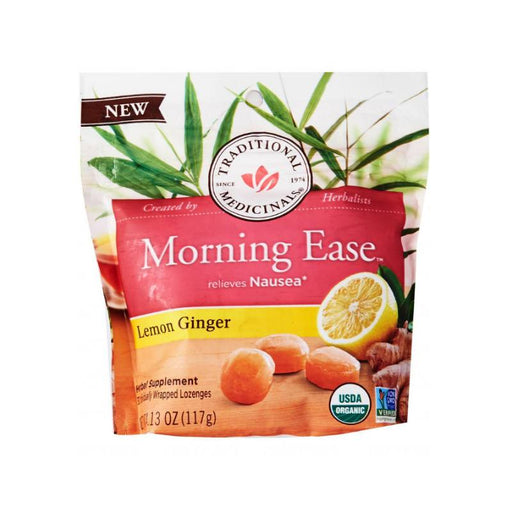 Organic Herbal Tea - Traditional Medicinals Morning Ease Lemon Ginger, 30 Lozenges