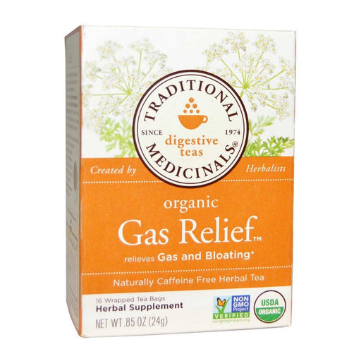 Organic Herbal Tea - Traditional Medicinals Organic Gas Relief, 16 Bags