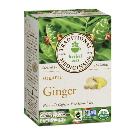 Organic Herbal Tea - Traditional Medicinals Organic Ginger Tea, 16 Bags
