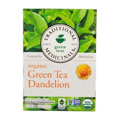 Organic Herbal Tea - Traditional Medicinals Organic Green Tea & Dandelion, 16 Bags