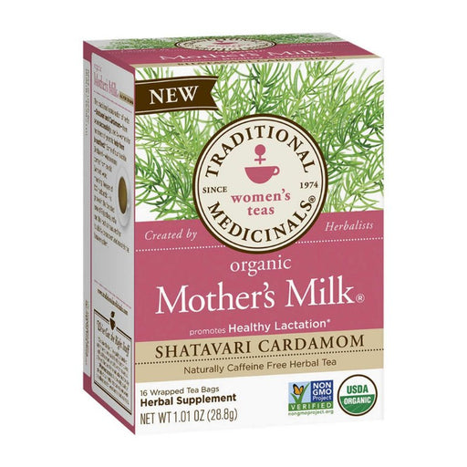 Organic Herbal Tea - Traditional Medicinals Organic Mother's Milk® Shatavari Cardamom, 16 Bags