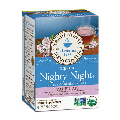 Organic Herbal Tea - Traditional Medicinals Organic Nighty Night With Valerian, 16 Bags