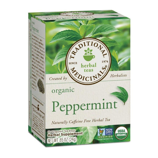 Organic Herbal Tea - Traditional Medicinals Organic Peppermint Tea, 16 Bags
