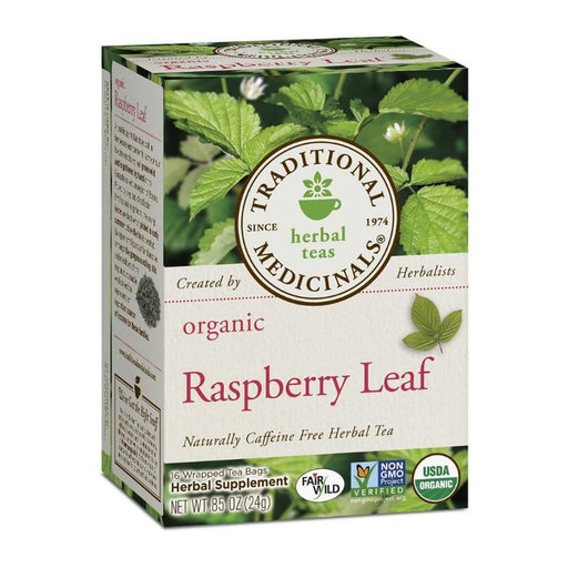 Organic Herbal Tea - Traditional Medicinals Organic Raspberry Leaf Tea, 16 Bags