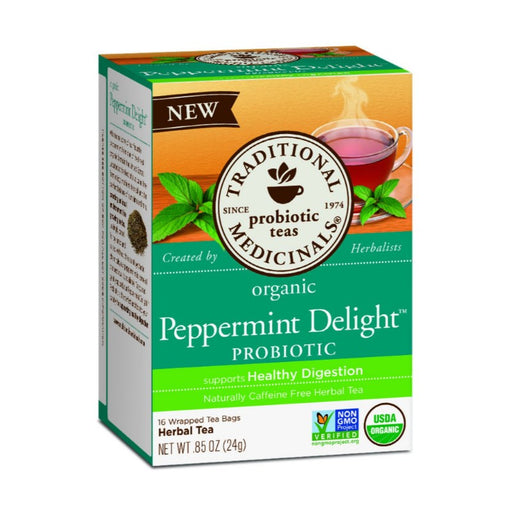 Organic Herbal Tea - Traditional Medicinals Peppermint Delight, 16 Bags