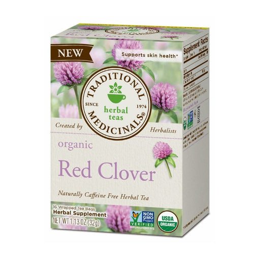 Organic Herbal Tea - Traditional Medicinals Red Clover, 16bags