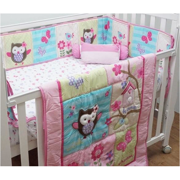 Bedding Set – P2 (Happy Owl) - Little Baby