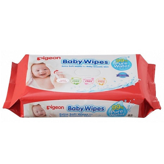 Pigeon Baby Wipes – 99% Pure Water (NEW) 82's, 6in1