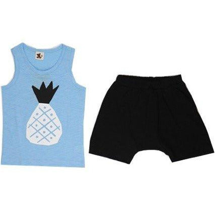 Puco Premium Sleeveless Set - Pineapple Blue