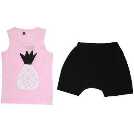 Puco Premium Sleeveless Set - Pineapple Pink