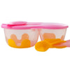 B.box Snack Pack with Soft Tip Spoon (Pinkalily)