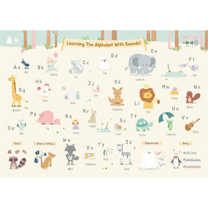 Playmat - Liku Educational Bumper Mat With Sound Pen + 6 Posters - L15