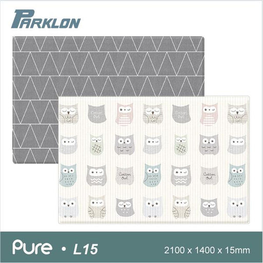 Playmat - Parklon PURE Cotton Owl Time Gray (size L15)