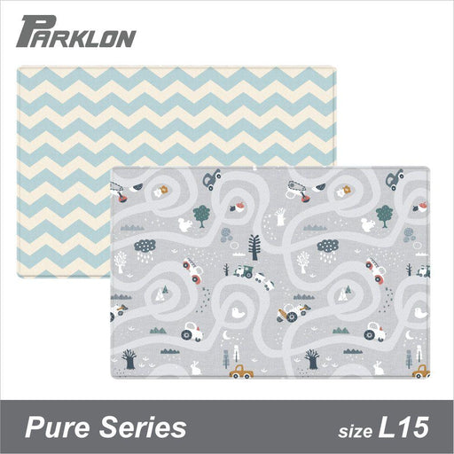 Playmat - Parklon PURE Saint Grey Blue Chevron (Size L15)
