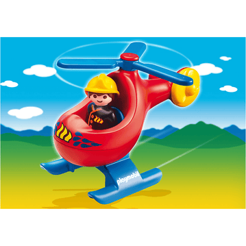 PLAYMOBIL 1.2.3 - Playmobil  6789 1.2.3 Fire Rescue Helicopter