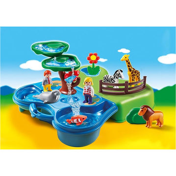 PLAYMOBIL 1.2.3 - Playmobil 6792 1.2.3 Take Along Zoo & Aquarium