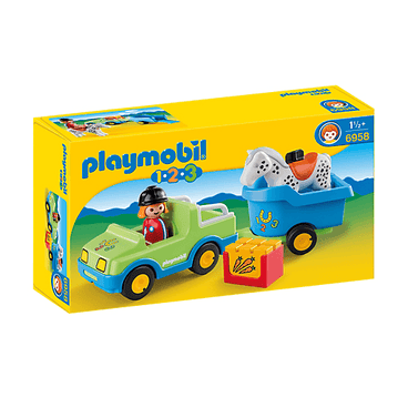 PLAYMOBIL 1.2.3 - Playmobil 6958 1.2.3 Car With Horse Trailer