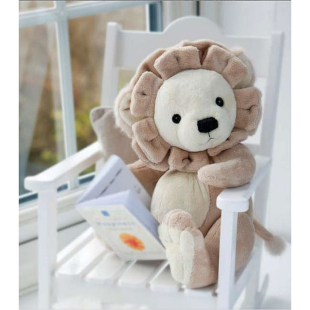 Plush Toy - Charlie Bears Baby Organic Leopold Lion (Large) With Gift Box