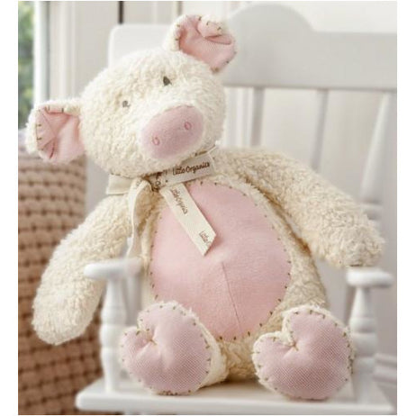 Plush Toy - Charlie Bears Baby Organic Pifor Pig (Small)