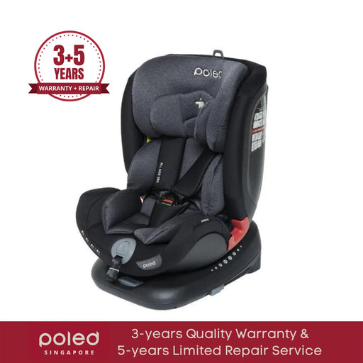 Poled ALL AGE 360 | Phantom Black - Poled ALL AGE 360 Swivel Car Seat | Phantom Black [0m-12yo]