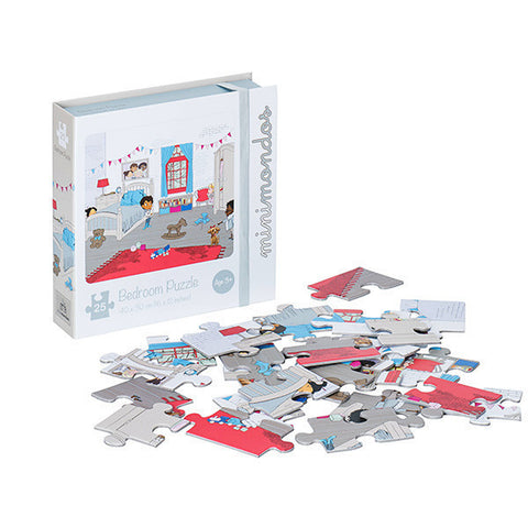 Minimondos Jigsaw Puzzle 25pcs - Bedroom