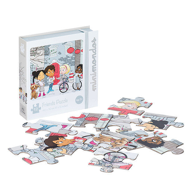 Minimondos Jigsaw Puzzle 12pcs - Friends - Little Baby