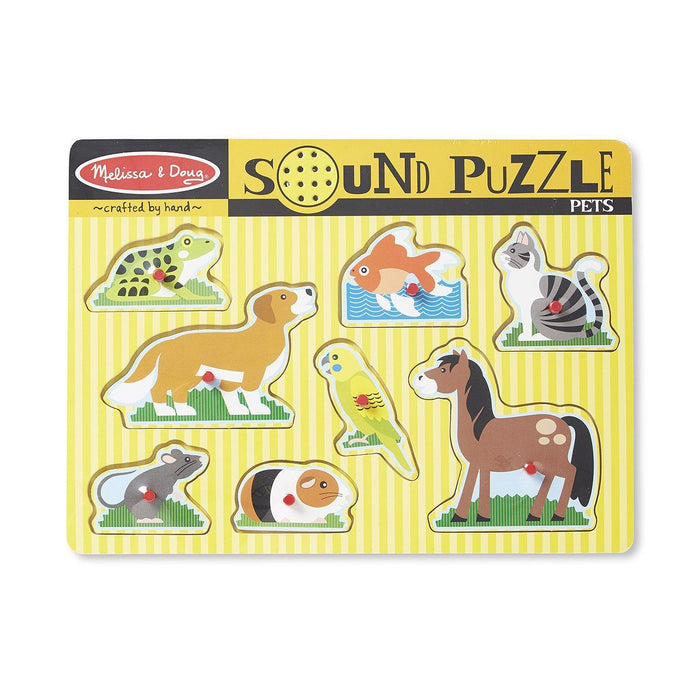 Puzzles - Melissa & Doug Pets Sound Puzzle - 8 Pieces