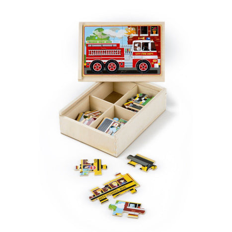 Puzzles - Melissa & Doug Vehicles Jigsaw Puzzles In A Box