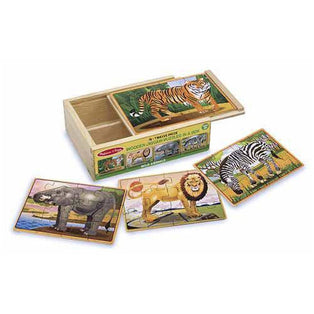 Puzzles - Melissa & Doug Wild Animals Jigsaw Puzzles In A Box