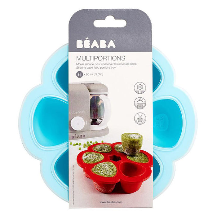 BEABA Multiportion Silicone Tray 6 x 90ml - BLUE