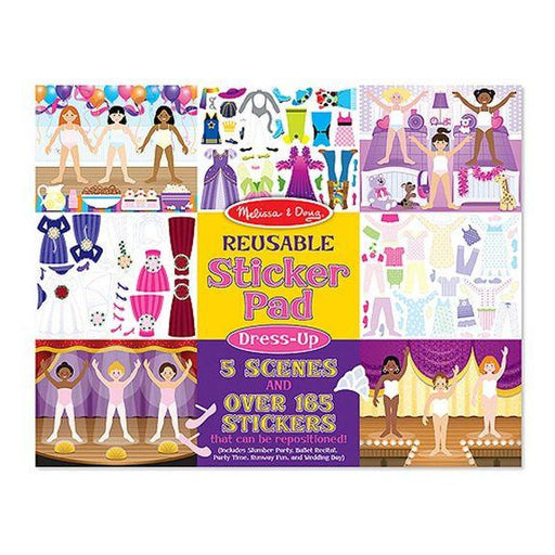Reusable Sticker Pad - Melissa & Doug Reusable Sticker Pad - Dress Up