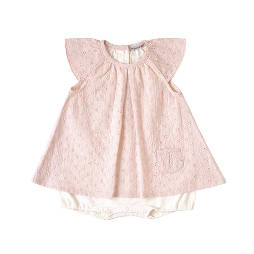 Romper - Hoppetta Layered Dress - Pink Saxophone 80 Cm