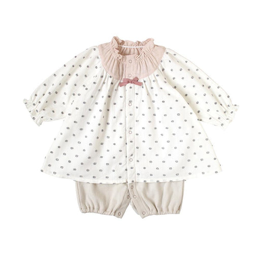Romper - Hoppetta Tunic Coverall Water Polka - Cream (Web Shop Exclusive)