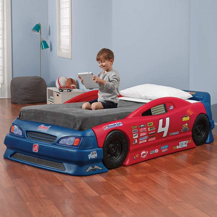 Step 2 Stock Car Convertible Bed - Little Baby