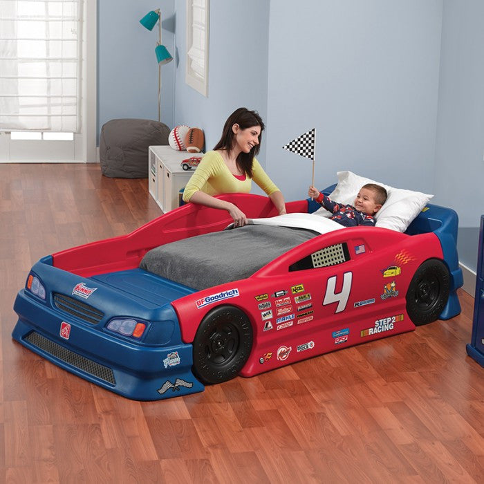 Step 2 stock car convertible bed little baby