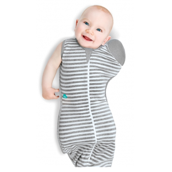 Love To Swaddle UP™ 50/50 (Grey Stripe) - Little Baby Singapore
