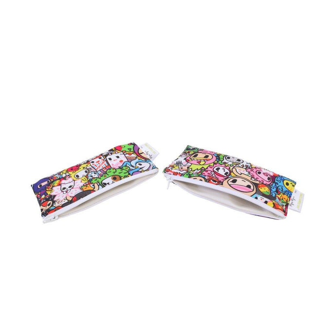 Snack Bags - Itzy Ritzy SNACK HAPPENS MINI™ REUSABLE SNACK BAGS - TOKIDOKI COLLECTION
