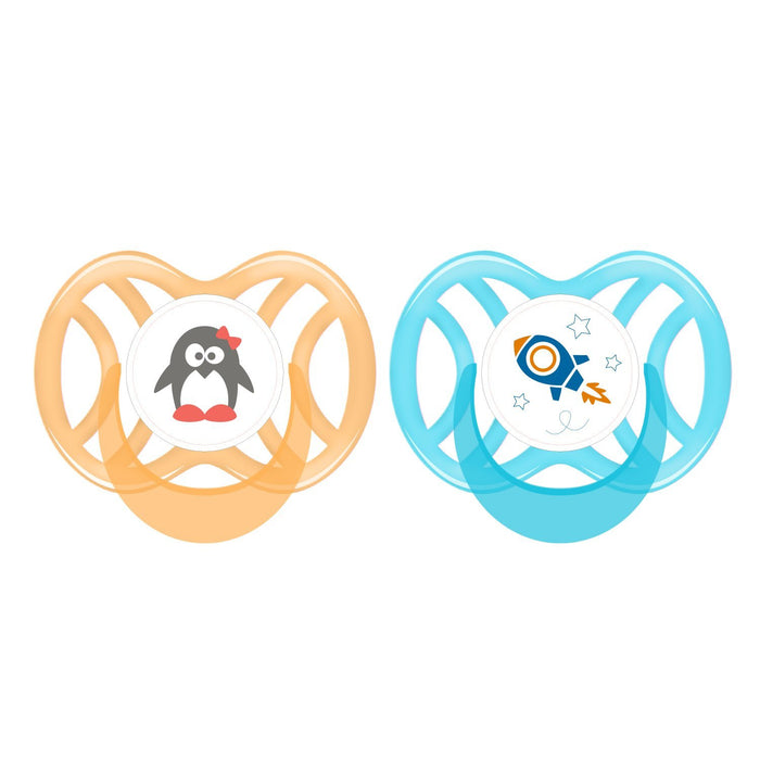 Soothing - PUR Ventilated Symmetric Silicone Soother : 6 Months+