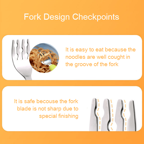 Spoon Fork - Monee Spoon And Fork - Orange