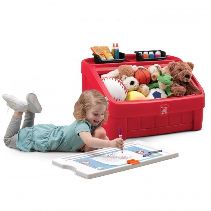 Storage - Step 2 2-in-1 Toy Box & Art Lid ™ - Red