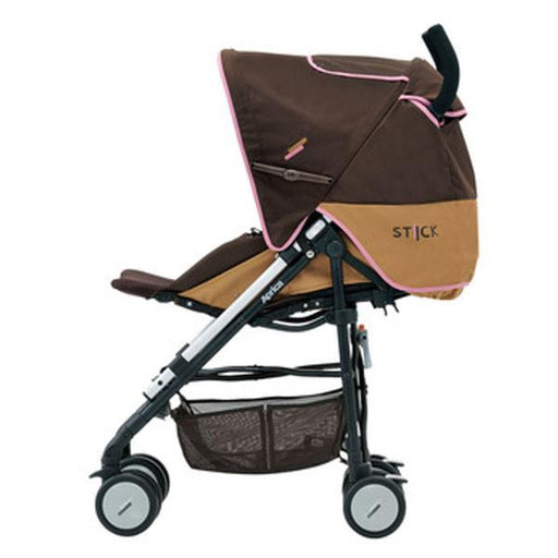 Stroller - Aprica Flat Stick BROWNIE PINK