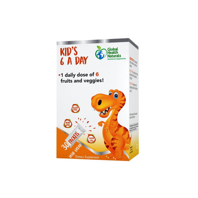Supplements - Global Health Naturals Kid's 6 A Day (Expiry 01/2021) - 10% OFF