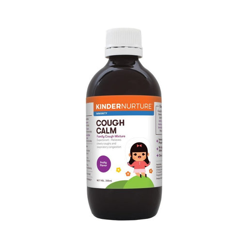 Supplements - Kindernurture CoughCalm Family Cough Mixture, 200ml.